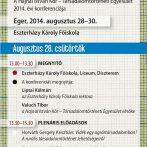 Társadalomtudósok éves konferenciája – Hajnal István Kör 2014