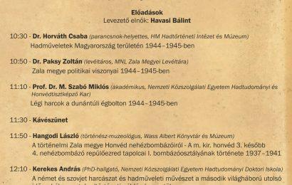 Napágy helyett nehézbombázók - Konferencia a Balatoni csatáról