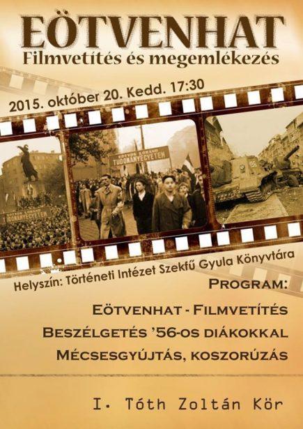 Így emlékeztünk '56-ra: filmvetítés az ELTE-n