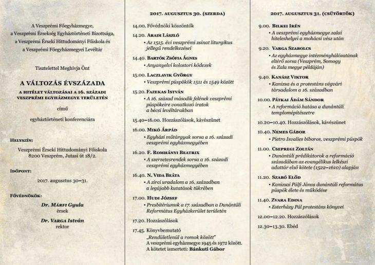 A Változás Évszázada: A hitélet változásai a 16. századi Veszprémi Egyházmegye területén
