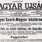 Egy nyolcnapos szakadár állam – A Baranya-bajai Szerb-Magyar Köztársaság
