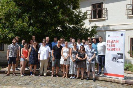 III. Fraknói Nyári Akadémia - A már létező hagyomány
