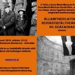 Államfordulatok és rendszerváltozások a 20. században | Konferenciafelhívás