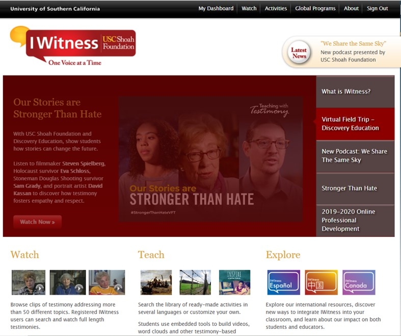 Az IWitness online digitális oktatási platform