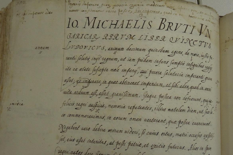 Ritka (magyar) kincs az olasz levéltárban – Brutus Rerum Ungaricarum libri trentói kéziratának megtalálásához