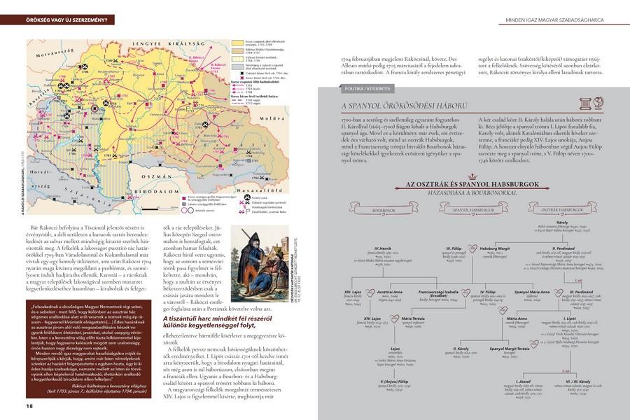 Az ismeretek bővítését olykor fél- vagy egészoldalas térképek és ábrák segítik a Magyar História sorozat könyveiben.