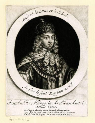 I. József, akinek megszületése végleg véget vetett a dinasztikus instabilitásnak. Forrás: regiritka.oszk.hu