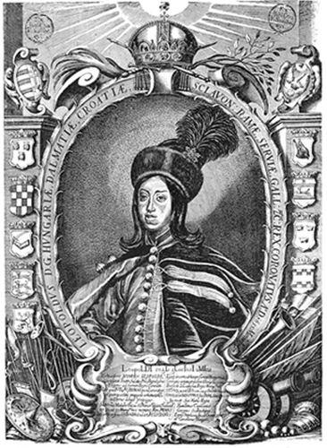 I. Lipót magyar királyként (Szelepchény rézkarca; forrás: mek.oszk.hu)
