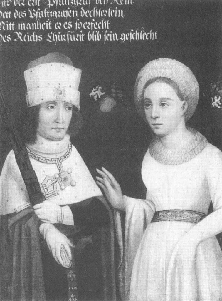 """Magyarok és bajorok a 13. században – II. rész. II. Ottó bajor herceg és felesége, Braunschweigi Ágnes 16. századi olajfestmény (A kép forrása: <a href=""""https://de.wikipedia.org/wiki/Otto_II._(Bayern)#/media/Datei:OttoIIvonBayernAgnesdieJuengere.jpg"""">Wikipédia</a>)"""