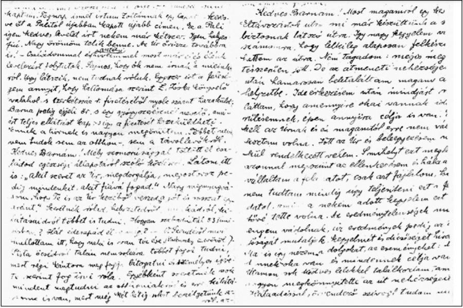 Simon Zsigmond Horkay Barnának, Potyma, 1955. 05. 03. (Kép forrása: Horkay Anna és a Kényszerű rabság, kettétört sorsok, jelöletlen sírok. A GULAG-kutatás fehér foltjai című recenzált könyv pdf-verziójának 59. oldala)