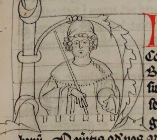 """Magyarok és bajorok a 13. században – II. rész. IV. Béla veje, Wittelsbach Henrik. Liber Fundatorum Zwetlensis, 1310k. (A kép forrása: <a href=""""https://en.wikipedia.org/wiki/Henry_XIII,_Duke_of_Bavaria#/media/File:Heinrich_XIII._(Bayern).png"""">Wikipédia</a>)"""
