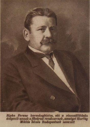 Ripka Ferenc. Forrás: A Magyarság képes melléklete, 1925. március 5. 12.