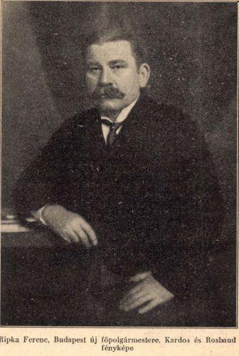 Ripka Ferenc. Forrás: Új Idők, 1925. július 19. 61.