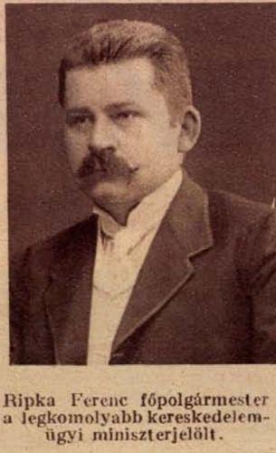 Ripka Ferenc. Forrás: Tolnai Világlapja, 1925. október 7. 4.