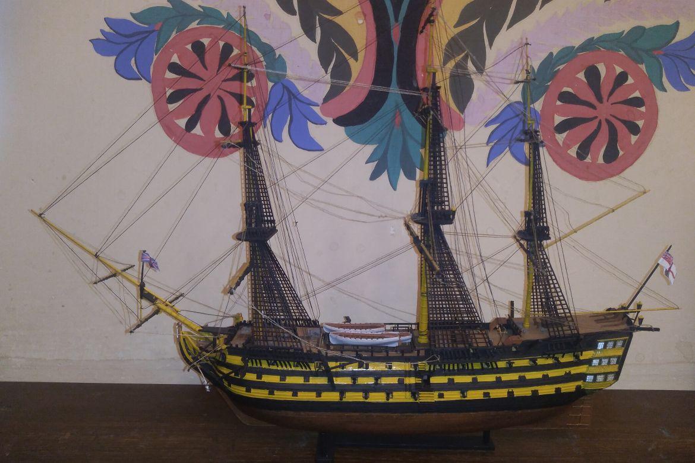 A HMS Victory makettje (Szuromi Kristóf munkája)