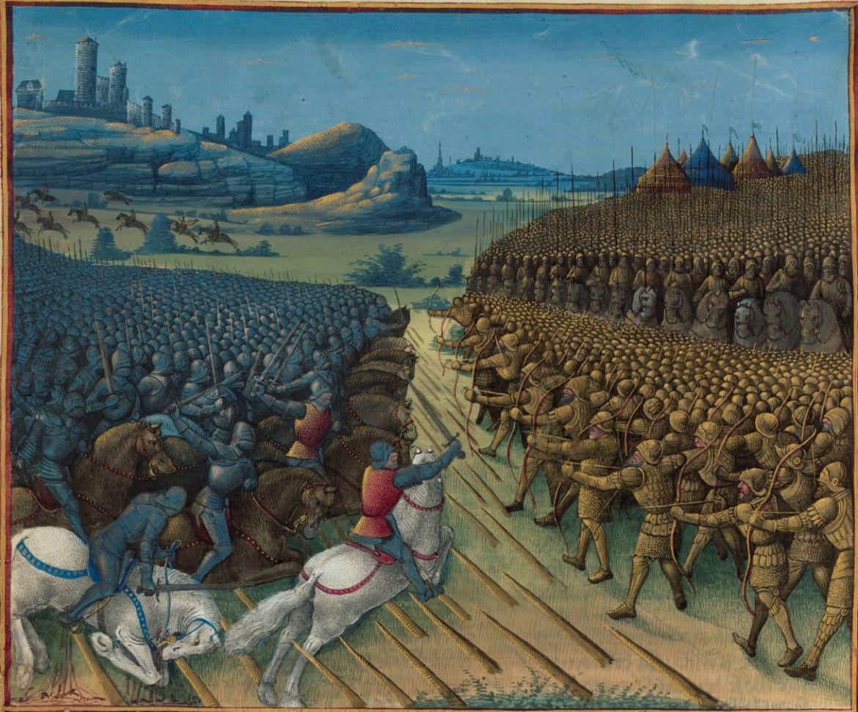 A nikápolyi csata. Forrás: Wikimedia