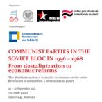 Győzött a forradalom: hatalmon a kommunisták – Konferencia a szovjet blokk kommunista pártjairól (1956–1968)